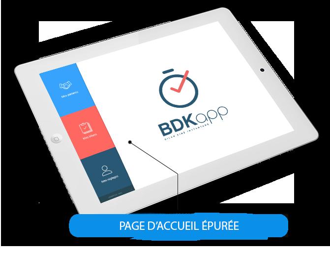 bdkapp appli application kiné bilan bdk